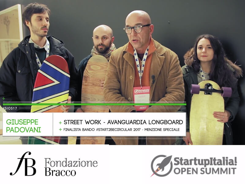 Le startup finaliste di Start To Be Circular - Intervista a Street Work - Avanguardia Longboard